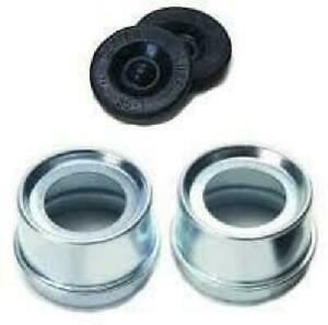 Lube Grease Cap Rubber Leakproof Bearing Hub Spring Cover Boat Trailer Kit 2 Pcs
