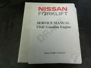 Nissan Tb45 Gasoline Forklift Engine Repair Service Manual