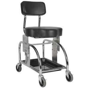 Heavy Duty Rolling Shop Stool Tool Trolley Adjustable Height 19 5 20 25