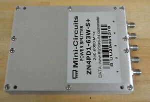Mini Circuits Zn4pd1 63w s Rf Power Splitter 250 6000mhz Qty Available Good