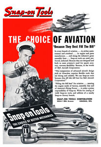 Snap on Tools 1943 Aviation Tools Vintage Poster