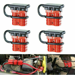 4pcs Auto Car 50a Battery Quick Connect Disconnect 12v 6awg Plug Winch Connector