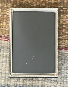 Vintage Etched Metal Table Photo Frame Picture Silver Tone 1950 S 7 X 5