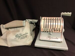 Vintage Paymaster Series X 2000 Check Writer W Dust Cover Works