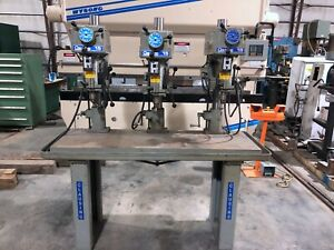 15 Clausing 3 Spindle Multiple Spindle Drill Table Model1666