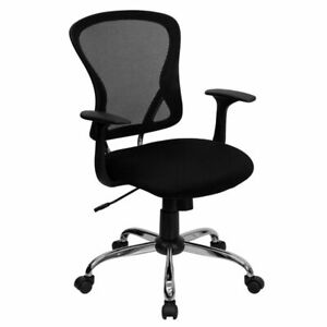 Mid back Mesh Office Chair With Chrome Finished Base Black