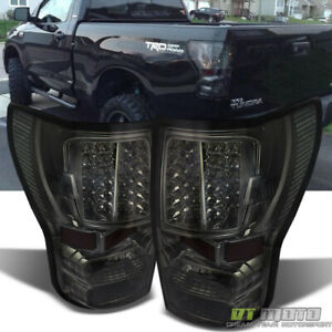 For Smoked 2007 2013 Toyota Tundra Pickup Led Tail Lights Brake Lamps Left right