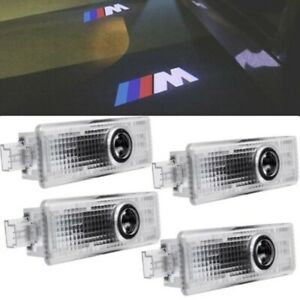 4pcs Car Door Welcome Lights Courtesy Led Projector Ghost Shadow Light For Bmw M