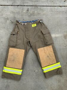 Morning Pride Fire Fighter Turnout Pants 42x27 Bunker Gear 2778