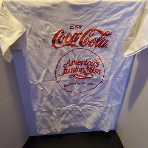 Coca cola t shirt vintage America Junior Miss medium white and red enjoy