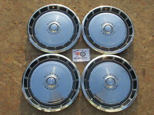 1971 1972 1973 Ford Mustang 14 Wheel Covers Hubcaps Set Of 4