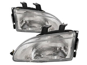 Headlights Replacement Set For 1992 1995 Civic Driver Passenger Pair