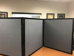 3 Ft Tall 3 Panel Tabletop Display privacy Screen partition Wfh Or E learning
