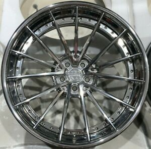 Mercedes Benz Gle63 22 Anrky Wheels Full Polished An39 Amg W166 Forged Rims