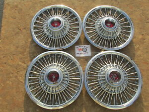 1967 1968 1969 Ford Mustang 14 Wire Wheel Covers Hubcaps Set Of 4