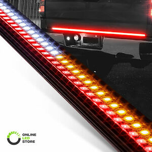 60 Rigid Led Tailgate Light Bar Sequential Turn Signal Brake Reverse Truck