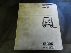 Clark C500 y Forklift Maintenance Adjustment Procedure Service Manual Pma 539