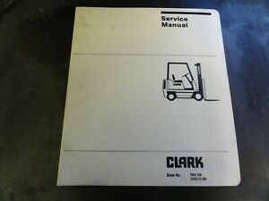 Clark C500 y Forklift Pma 539 Maintenance Adjustment Procedure Service Manual