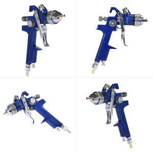 1 4mm Nozzle Mini Hvlp Gravity Feed Spray Paint Gun W Gauge Regulator Auto Body