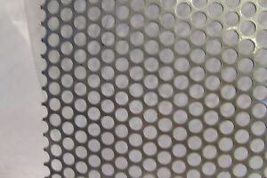 1 4 Holes 18 Ga 304 Stainless Steel Perforated Sheet 12 X 24