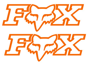 Fox moto Racing Vinyl Decal Stickers Cars Atvs Motorcycles 2 For 1