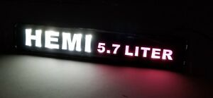 1pcs For Hemi Led Light Car For Front Grille Badge Illuminated Decal Sticker