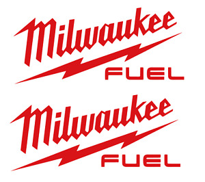 2 For 1 Milwaukee Tools Fuel Decal Sticker Sawzall Saw Drill Impact M12 M18