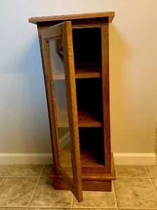Vintage Handcrafted Wood Glass Display Case