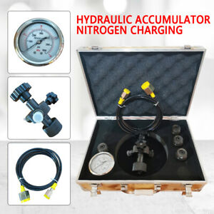 Hydraulic Accumulator Nitrogen Charging Fill Gas Valve Test Kit 300bar Fpu Fast