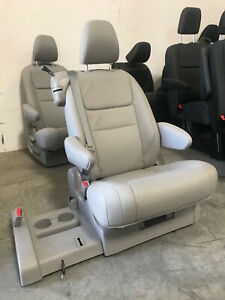 2015 2019 Toyota Sienna Second Row Bucket Seat Gray Leather Whole 3 Seats