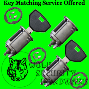 Jeep Wrangler 1991 98 Door Rear Key Lock Cylinder Set 2 Keys 1 1 8 Dia Face