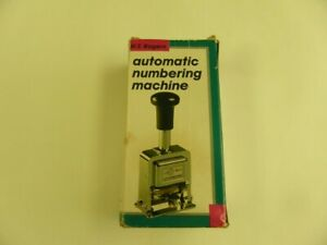 W t Rogers Automatic Numbering Machine Model 04213 Old Ink Included
