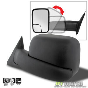 Left 94 01 Dodge Ram 1500 94 02 2500 3500 Tow Flip Up Manual Driver Side Mirror