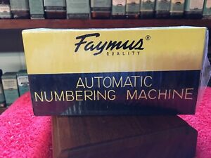 Faymus Automatic Numbering Machine
