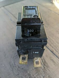 Pushmatic P2100 Two Pole 100 Amp Circuit Breaker Used