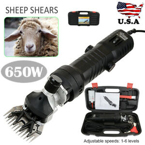 650w Electric Sheep Alpaca Goats Shearing Clipper 6 Adjustable Speed Shears New