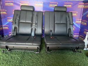 07 14 Tahoe Yukon Escalade Suburban Third Row 50 50 Bench Seats Ebony Leather