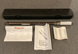 Snap on Torque Wrench Qd3250 With Case 1 2 Drive 50 250 Ft lb W Case