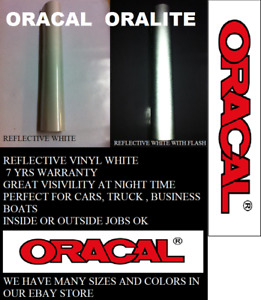 12 X 5 Ft White Reflective Vinyl Adhesive Sign Made In Usa Oracal Oralite