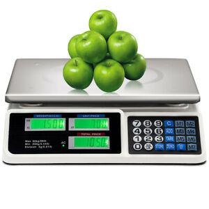 66 Lbs Price Computing Scale Digital Food Meat Scale Electric Counting Weight