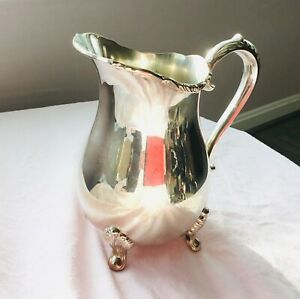 Antique Towle Silver Plated Water Pitcher 9in X 6in