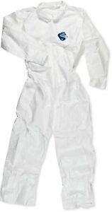 Dupont Ty120 Tyvek Coveralls With Open Wrists And Ankles White Size Xl