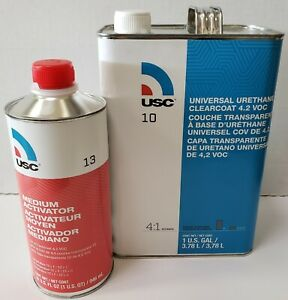 Urethane High Gloss Usc 10 1 Gallon Clear Coat Kit With 13 4 Medium Hardner
