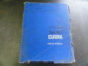 Clark C500 C500 y 30 Forklift Parts Manual