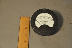 Vintage Westinghouse Nx 35 Electrical Panel Meter Gauge 0 200 Milliamperes Dc