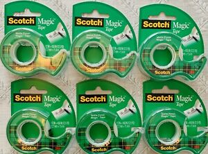 3m Scotch Magic Tape W Refillable Dispenser 1 2in X 450in 12 5 Yd 6 Total Lot