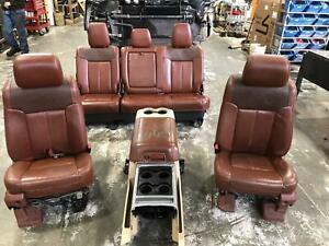 2011 2016 Ford F350 Front Rear Seat Console Leather Power King Ranch