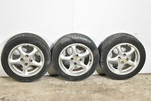 99 05 Mazda Miata 5 Spoke Silver Wheels Incomplete Aa6577