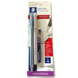 Staedtler Triplus Micro Mechanical Pencil Set Of Three Pieces 2 Hb Blue 0142