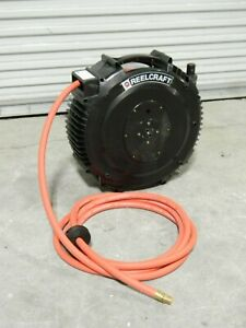 Reelcraft Retractable Composite Hose Reel 50 Ft X 1 2 In Sha3850 Olp Damage